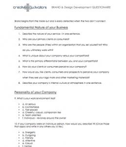 Branding Guide Branding Questions